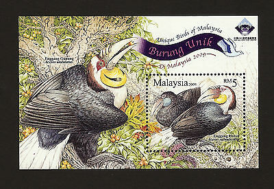 Malaysia 2009 **MNH** Unique Birds MS opt China World Stamp Exhibition