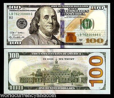 United States America 100 Dollars 2009 A Usa Franklin Unc Money Bill Bank  Note