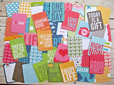 """'honey' Project Life Cards By Becky Higgins - 3"""" X 4"""" - 50 Cards"""
