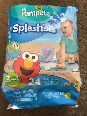 Pampers Splashers Disposable Swim Diapers Size 3-4 New In Package