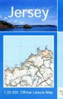 Jersey Map Channel Islands 1: 25 000 Official Leisure Ordnance survey Latest Ed