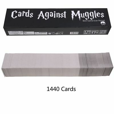 Cards Against Muggles 1440 Cards HARRY POTTER EDITION Party Table Card Game CA