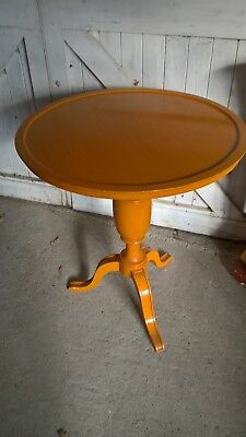 Vintage Claude Vicario Wooden Tripod Table.