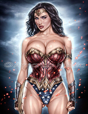 Armando Huerta Wonder Woman 2 8.5X11 Print Signed By The Artist!!!