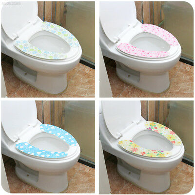 8DC0 Toilet Supply Decor Toilet Sest Pad Warm Cotton 1 Pair Bathroom Home