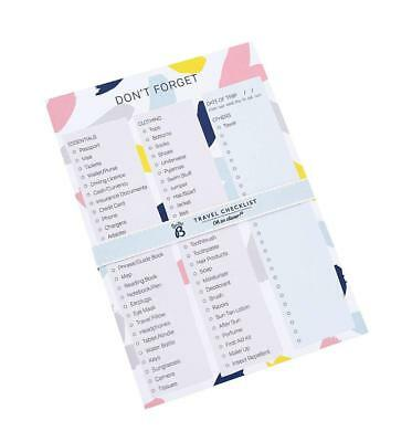 Busy B Travel Tear Off Checklist Notepad - Holiday Checklist Notepad