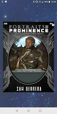Topps Star Wars Card Trader Portraits Of Prominence Steel Relic Saw Gerrera