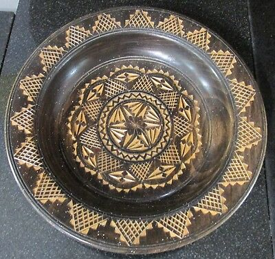 Wooden Hand-Carved, Hand-Crafted Bowl / Dish