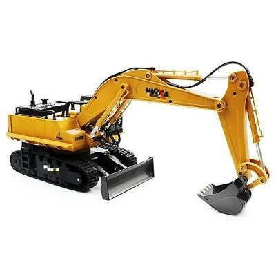1:16 2.4GHz 11CH RC Alloy Excavator RTR Sound 680-Degree Rotation LED Light