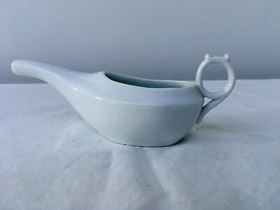 Antique White Infant Cup Feeder Pap Boat