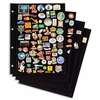 Pin Badge Collectors Album With Boards For Badges / Pins / Studs - 4 Colours