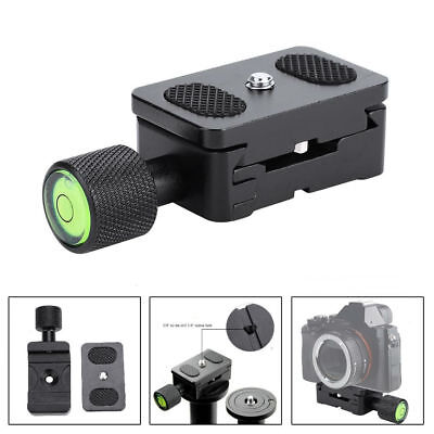 "Durable Tripod Mini Quick Release Plate Clamp 1/4"" Screw For Camera Accessory DH"