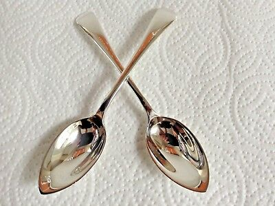 """Pair of Vintage Sterling/S """" Grapefruit """" Spoons by Sheffield Maker W & H 1933"""
