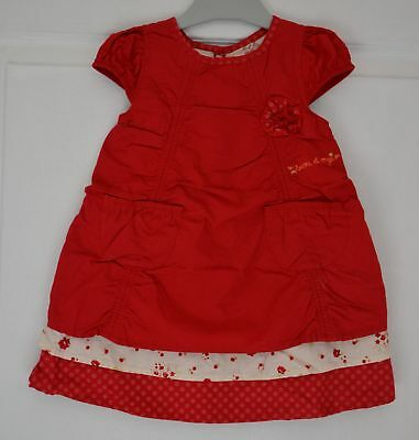 robe rouge fille 18 mois sucre d'orge