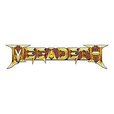 Megadeth gold Logo metal pin badge. Licensed product   (ro)