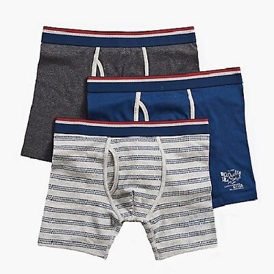 Lucky Brand Men Underwear Pack 3 Boxer Brief Stretch Cotton - Striped Wide New