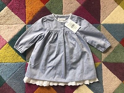 Little White Company London Baby Dress 3-6 months.