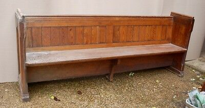 Stunning Antique Pitch Pine Church Chapel Pew Bench Seat Settle Home Cafe 86""