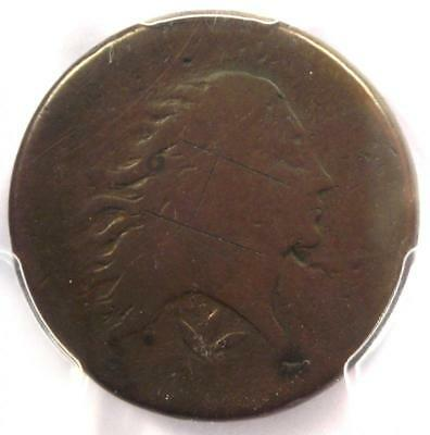 1793 Flowing Hair Wreath Cent 1C - Certified PCGS AG Details - Rare Coin!