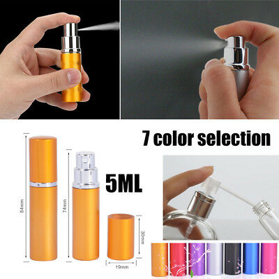 5ml Mini Travel Outdoor Home Perfume Bottle Atomizer For Spray Scent Pump Case F