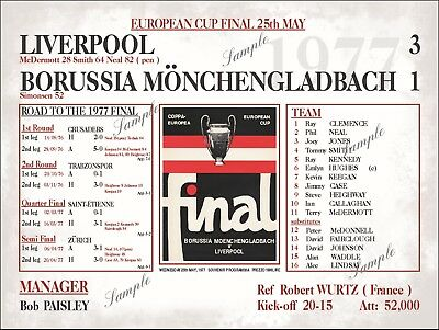 Liverpool Football Programmes Liverpool 1977 European Cup Final Sign Anfield