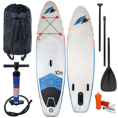 "F2 Sup Ride 10,5"" 2018 Stand Up Paddle Board Aufblasbar + Testboard Komplett"