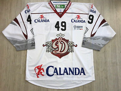 Dynamo Riga Dinamo KHL Ice Hockey Jersey Shirt Spengler Cup 2017/18 Game Issued
