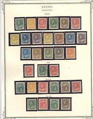 CANADA, Fabulous King George V Mint NH/H Stamps mounted on a page.