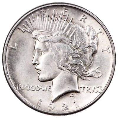 1921 Silver Peace Dollar BU Brilliant Uncirculated $1 Coin SKU55147