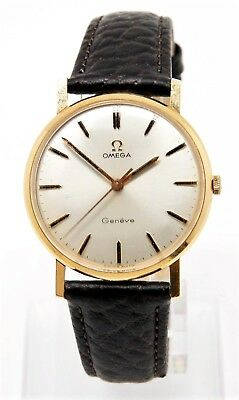 Omega Geneve Cal 601 33Mm 18K Solid Gold Watch