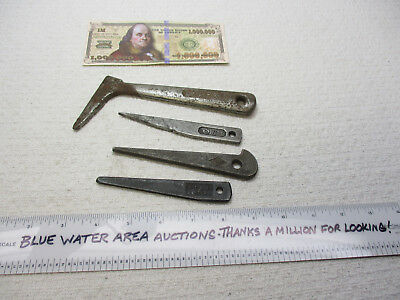 (4) Machinist Drilling Drift Keys for Taper Shank Drill, # 1, # 2, Armstrong
