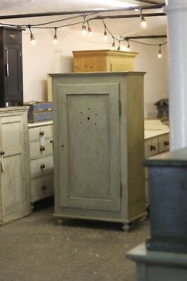 victorian painted pine food cupboard with shelves