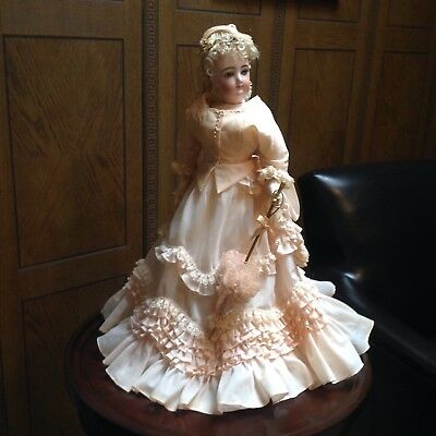 Lovely vintage/antique French Fashion Doll  Dress