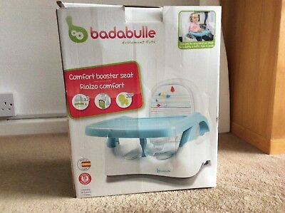 Badabulle Comfort Baby Feeding Food Booster Seat - Blue/Grey