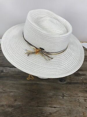 9e3fc0f8191 C.C EXCLUSIVE'S ADJUSTABLE Women's Raffia Straw Wide Brim Summer Sun ...