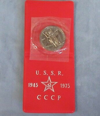 1975 USSR 1 Rouble 30th Anniversary WWII Victory Coin. UNC. Sealed