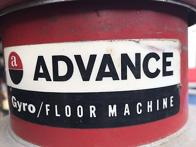 """Advance Gyro Floor Machine - 14"""" 1/3 HP, works perfectly, plus pads"""