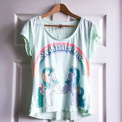Vintage 90s Print My Little Pony Official Hasbro T Shirt H&M Size 10 Small