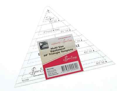 Sew Easy Multi size equilateral 60˚ angle triangle ruler template NL4169