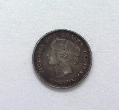 Canada 1874-H Silver 5 Cents -Crosslet 4- Very Fine