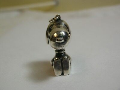 Rare Cartier Sterling Silver Snoopy Dog Pendant Signed Cartier Dated 1968 Un