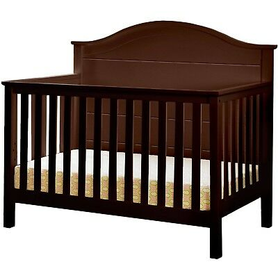 Lolly & Me Cottage 4-in-1 Convertible Crib Espresso Brown