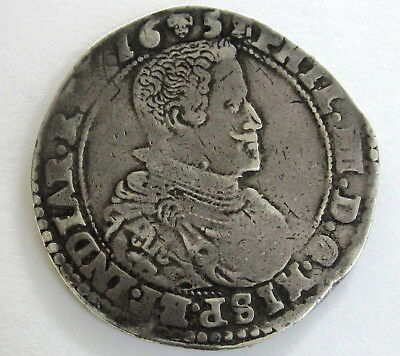 Spanish Netherlands Silver Ducatone 1657 KM 72.1 Circulated, Uncertified