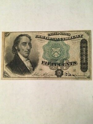 1866 Fractional Currency 50 Cent Dexter