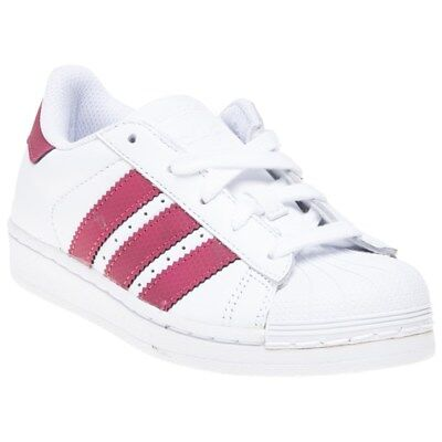 finest selection 705cf 06132 New Infants adidas White Superstar Leather Trainers Court Lace Up