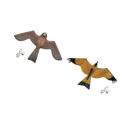 Bird Scarer Repeller Flying Hawk Kite Kit Garden Scarecrow Yard House Decor