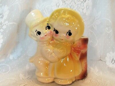American Bisque Boy Girl Couple Planter
