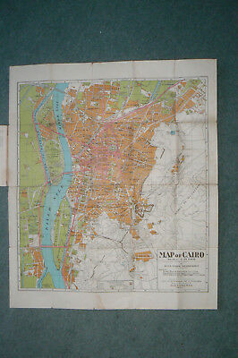 1932 Arts Graphiques Map Of Cairo , Egypt