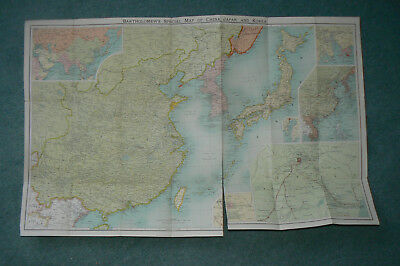1900 Bartholomew's War Map Of China And The East