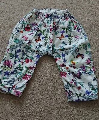 Baby Girls Marks And Spencer Trousers 9-12 Months
